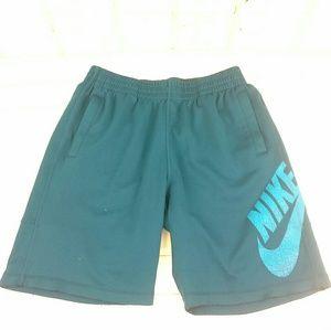 "Nike SB 9"" Skateboard Shorts Size L Teal Polyester"